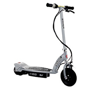 Razor E100 Electric Scooter - Silver / Black